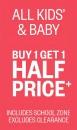 All-Kids-Baby-Buy-1-Get-1-Half-Price on sale