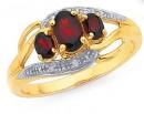9ct-Garnet-Diamond-Ring on sale