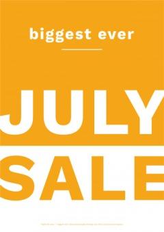 Biggest Ever July Sale