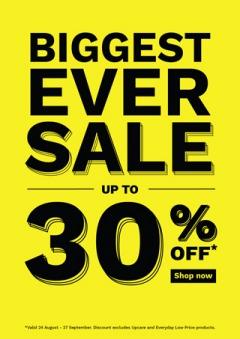 Biggest Ever Online Sale