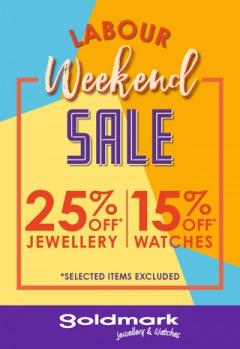 Goldmark Labour Weekend Sale
