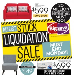 August Stock Liquidation Sale