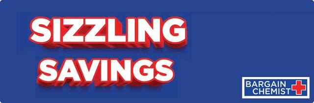 Sizzling Savings - Bargain Chemist