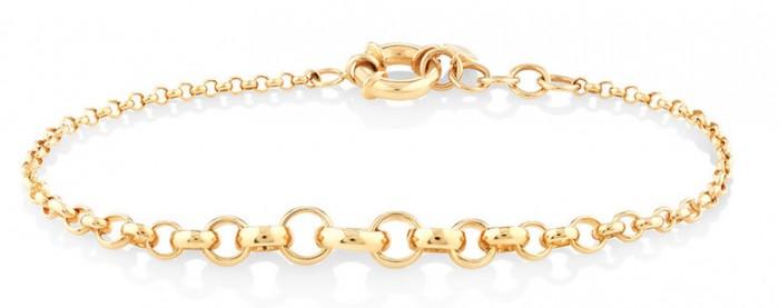 "NEW 19cm (7.5"") Graduated Belcher Bracelet in 10ct Yellow Gold"