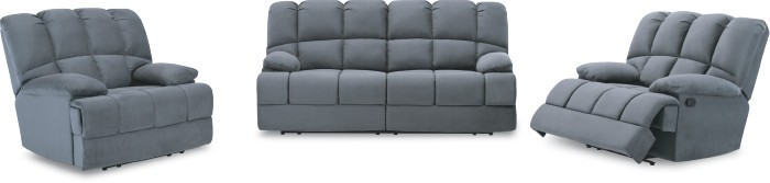 Spartan 3 Seater with Inbuilt Recliners + 2 Recliners
