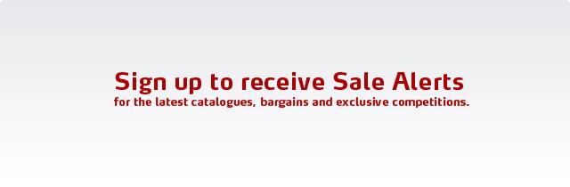 Sign up to Sale Alert