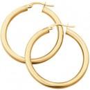 NEW-25mm-Hoop-Earrings-in-10ct-Yellow-Gold Sale