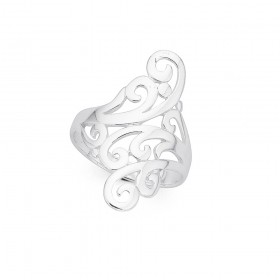 Sterling-Silver-Scroll-Ring on sale