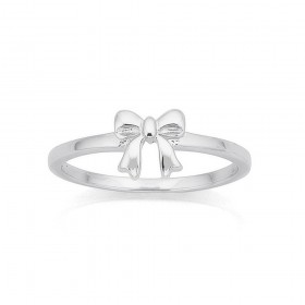 Sterling-Silver-Mini-Bow-Ring on sale