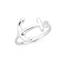 Anchor-Ring-in-Sterling-Silver on sale