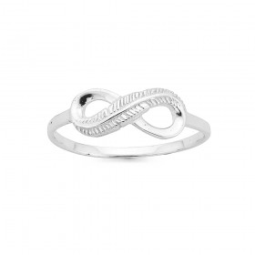 Infinity-Feather-Ring-Silver on sale