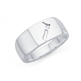 Sterling-Silver-NZ-Map-Ring-Size-T-T-12 on sale