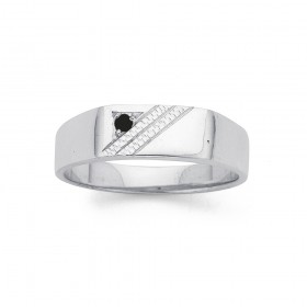 Gents-Sapphire-Signet-Ring-in-Sterling-Silver on sale