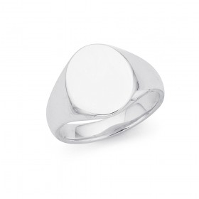Gents-Blank-Signet-Ring-in-Sterling-Silver on sale