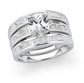 Cubic-Zirconia-Trio-Set-Ring-in-Sterling-Silver on sale