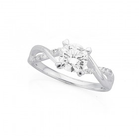 Cubic-Zirconia-Crossover-Ring-in-Sterling-Silver on sale