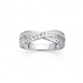 Sterling-Silver-Channel-Set-Cubic-Zirconia-Kiss-Ring on sale