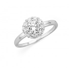 Cubic-Zirconia-Cluster-Ring-in-Sterling-Silver on sale
