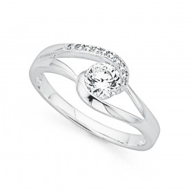 Cubic-Zirconia-Split-Twist-Ring-in-Sterling-Silver on sale