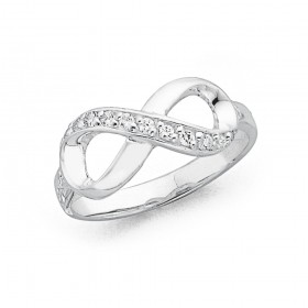 Cubic-Zirconia-Infinity-Ring-in-Sterling-Silver on sale