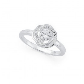 Silver-Cubic-Zirconia-Ring on sale