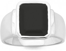 Square-Gents-Onyx-Ring-in-Sterling-Silver on sale
