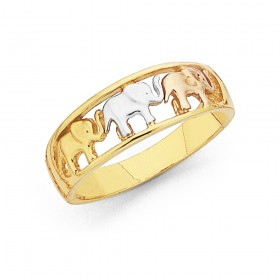 Tri-Tone-Elephants-Ring-in-9ct-Gold on sale