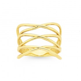 9ct-Laced-Up-Ring on sale