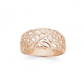 9ct-Rose-Gold-Filigree-Ring on sale