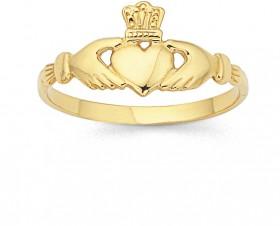 9ct-Irish-Claddagh-Ring on sale