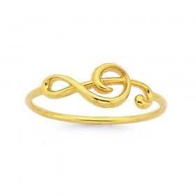 9ct-Treble-Clef-Ring on sale