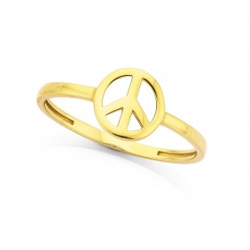 9ct-Mini-Peace-Ring on sale