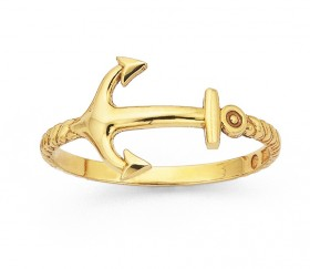 9ct-Anchor-Ring on sale