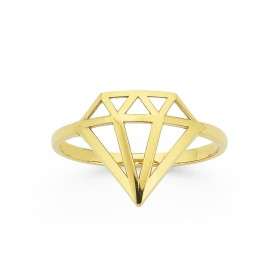 Diamond-Shaped-Ring-in-9ct-Yellow-Gold on sale