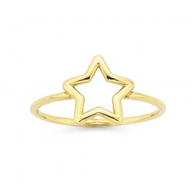 Star-Ring-in-9ct-Yellow-Gold on sale