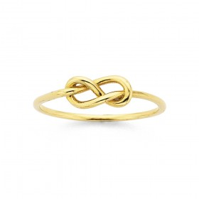 Knot-Ring-in-9ct-Yellow-Gold on sale