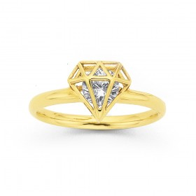 9ct-Cubic-Zirconia-Ring on sale