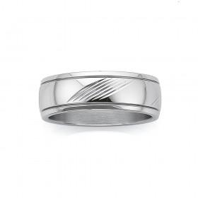 Chisel-Mens-Stripe-Ring on sale