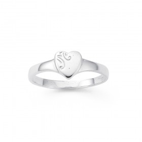 Sterling-Silver-Heart-Signet-Ring on sale