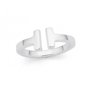 Sterling-Silver-T-Open-Ended-Ring on sale
