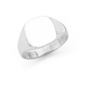 Sterling-Silver-Gents-Plain-Signet-Ring on sale