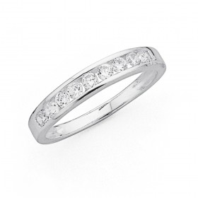 Sterling-Silver-Cubic-Zirconia-Channel-Set-Ring on sale