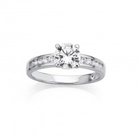 Sterling-Silver-Cubic-Zirconia-Ring on sale