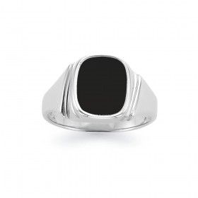 Sterling-Silver-Onyx-Gents-Ring on sale