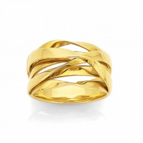 9ct-Ribbon-Ring on sale