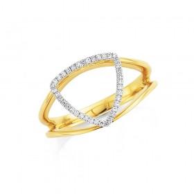 9ct-Diamond-Set-Ring on sale