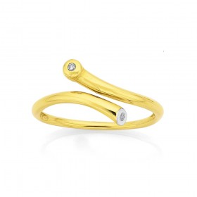 9ct-Modern-Water-Resistantap-Ring-with-Diamond on sale
