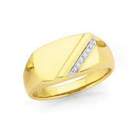 9ct-Diamond-Gents-Ring on sale