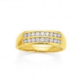9ct-Diamond-2-Row-Ring-Total-Diamond-Weight-50ct on sale