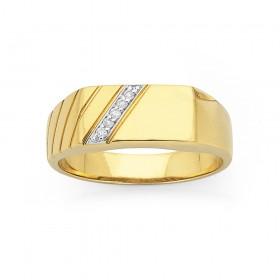 9ct-Gents-Diamond-Ring on sale